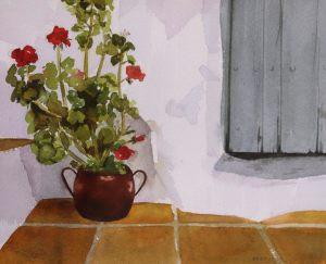 GERÁNEO - Papel acuarela - 30x22 cm