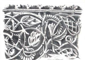 FRISO DE ESCAYOLA - Papel lápiz - 30x21cm